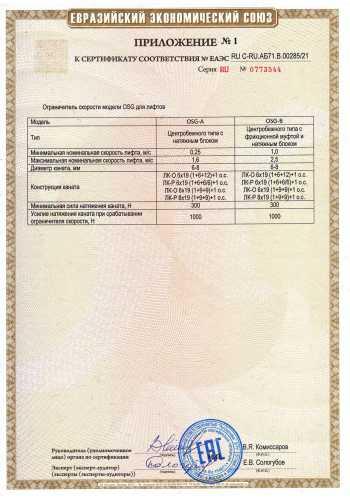 ЕАЭС RU С-RU АБ71.В.00285_21 OSG ЛиСиБ